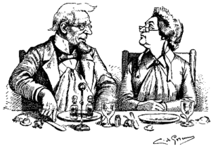 couple at dinner table